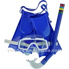 Teenager kids children diving swimming set mask & snorkel & fins