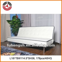 White PU Click Clack Sofa bed