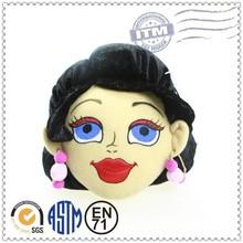 Cute top quality hot selling wholesale plush stuffed soft head doll