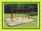 JMQ-B2824 baby swing set,rubber seat swing,double seat swing