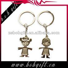 metal doll keyrings/ alloy personalized key rings