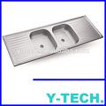 Duplo tigela pia de aço inoxidável YK1554B