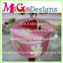 new design fashionable product cheap ceramic ornament box