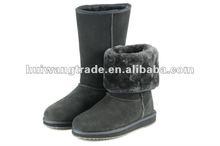 2014 warmest women sheepskin boot for winter