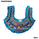 types of neckline handmake embroidery collar neck design for churidar(E031)