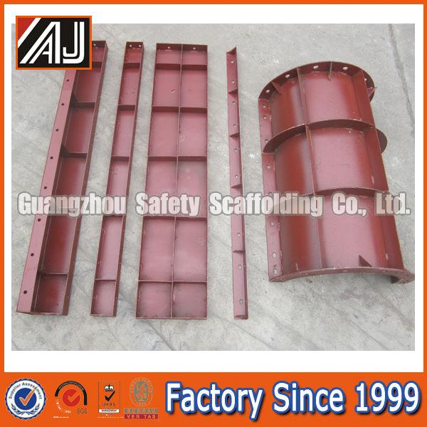 Fábrica en Guangzhou reutilizable acanalado pared de la columna de encofrado