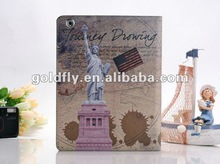 USA design Leather case for iPad3 (GF-IP3-05) (for ipad 3 case with shoulder strap/rabbit case for ipad)
