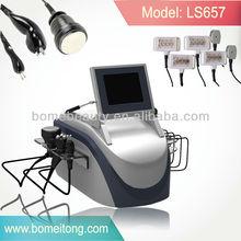 Professional Cavitation+Tripolar rf+Bipolar rf+6 pieces of lipo laser pads slimming machine
