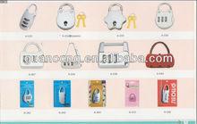 cute tsa plastic small case lock for bags