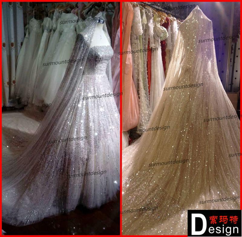ใหม่ล่าสุดหรูหราผลึกch1996ภาพที่แท้จริงของeliesaabหนักลูกปัดชุดแต่งงานสำหรับการขาย