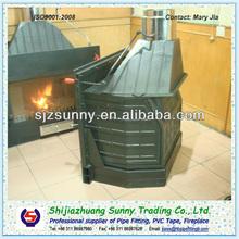 Wall Metal Insert Wood Burning Fireplace