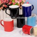 Tazas de café Nescafe cuadradas en cerámica vidriada, con tamaños personalizados de 5,8,9 y 10 onzas
