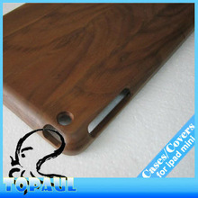 Nature bamboo wood tablet case for ipad mini