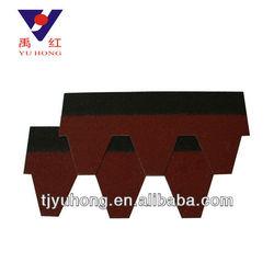 Red Asphalt roofing shingles