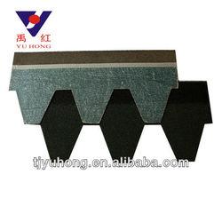 Hexagonal asphalt roofing shingles