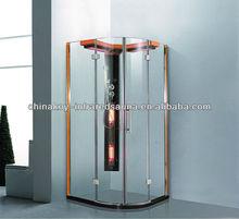 simple column sauna and shower , Shower enclosure and shower door