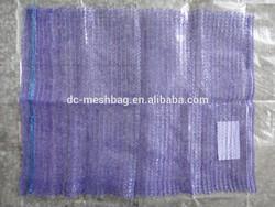 violet Raschel leno mesh bags for potatoes