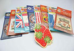 bulk car air freshener for promotion, hanging paper freshener cards, car paper perfume