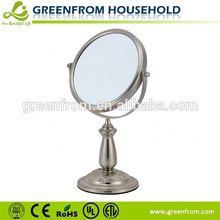 7 inch table style chrome decorative broken mirror