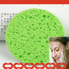 2014 New Natural and Round Cellulose Wet Face Cleaning Sponge Puff