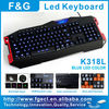 Unique led keyboard with 15 programmable keys and extra gaming keys
