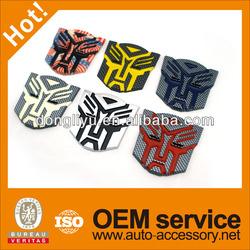 "5"" Plastic ABS autobot car emblems logo 3D carbon fiber looking"