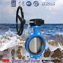 "1.5""~24"" PN1.0/1.6MPa Gear Operated wafer Butterfly Valve"