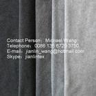 100% polyester grey melange polar fleece fabric