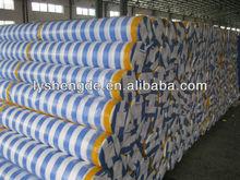 Stripe Pe Tarpaulin Rolls Blue White