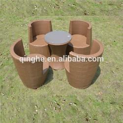 QHA-2082 Rattan Stackable Vase Sofa Outdoor & Sofa Rattan Furniture & Rattan garden outdoor sale & space saving furniture