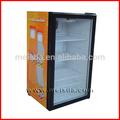 98L vitrine chiller, Refrigerador de bebidas, Vidro porta da geladeira