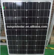 China manufacture supply mono crystalline silicon 18V 100 watt solar panel