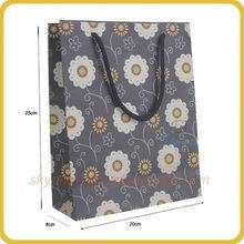 dark blue guangzhou paper bag with patterns