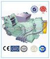 Twin parafuso de alimentação auto extrusora/cônico duplo extrusora/pvc/eva/china xwj- 125x6