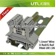 Din-rail banana plug terminal JUT1-1.5