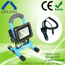 CE&ROHS certificated led-rechargeable-portable-worklight 10w/20w/30w with 3 years warranty