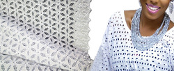 2014 high quality african dry lace fabric paper lace dry lace fabric for wedding party
