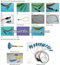 Hot selling LC,SC,FC,ST,MPO,MU,DIN,D4 fiber optic patch cord
