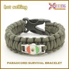 2014 newest high quality football team paracord bracelet
