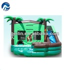 lovely monkey pvc inflatable combo, bouncy castle, inflatable slide for kids