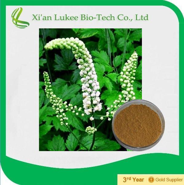 100% Natural black cohosh powder extract/cimicifuga racemosa p.e.