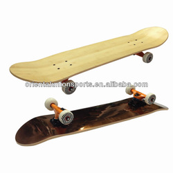 """31""""x8.5"""" Double kicktail Canadian bamboo professional skateboard"""