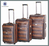 Tow wheels leather travel luggage bags & designer luggage sets