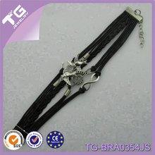 yiwu moda vendita calda ancora doppio uccelli infinito fascino artigianale cinturino in cuoio cinturino con perno