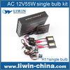 Professional service factory price h7 hid kit bixenon kit h4 55w 4300k
