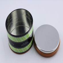 Round Christmas Gift Tin Box With inner lid