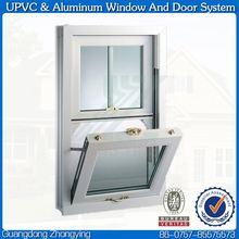 Outward open single glass upvc windows tilt swing
