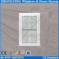 White double glazing decorative plastic window inserts