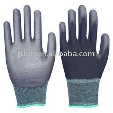 100% black Nylon knitted PU coating glove