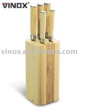 Hot Sale 6pcs Wooden Handle Knife Set Kitchen
